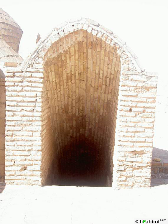 entrance of Ghasr-e Bahram's stairs