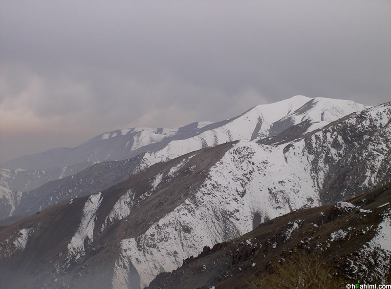 Tehran north and north west mountains