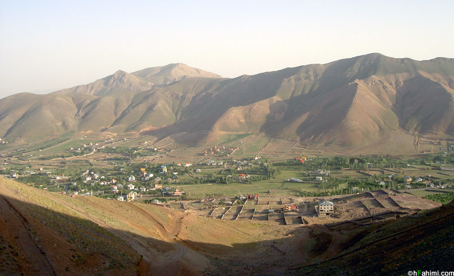 Mosha village, view from Haraz Road